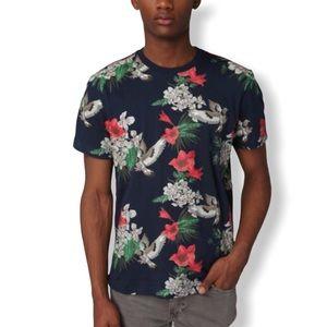 STAPLE Black Venderberg Floral Pigeon T-Shirt